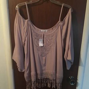 Taupe women's top